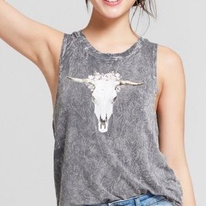 Grayson Threads Cow Skull Graphic Tank